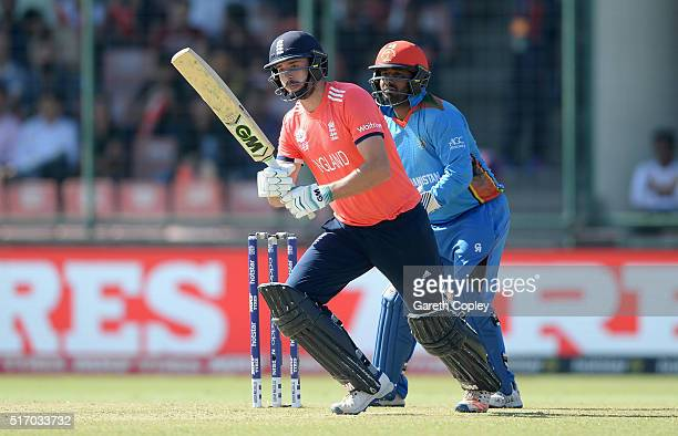 James Vince of England bats during the ICC World Twenty20 India 2016 Group 1 match between England and Afghanistan at Feroz Shah Kotla Ground on...
