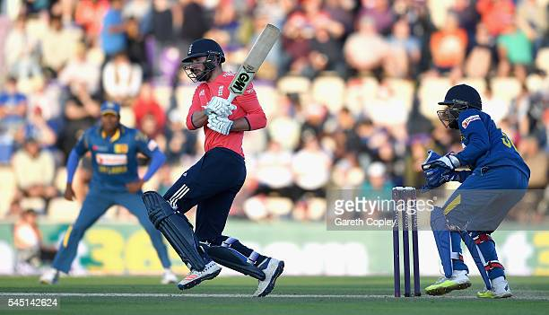 James Vince of England bats during the Natwest International T20 match between England and Sri Lanka at Ageas Bowl on July 5 2016 in Southampton...
