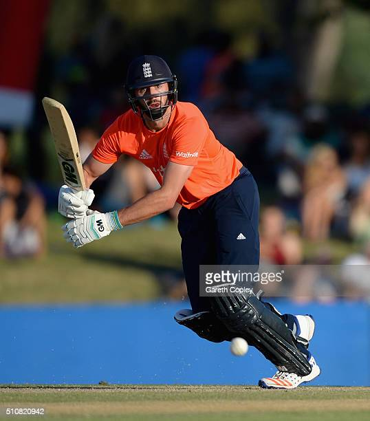 James Vince of England bats during the T20 Tour Match between South Africa Invitation XI and England at Boland Park on February 17 2016 in Paarl...