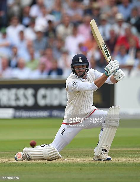 James Vince of England batting during day two of the first Investec test match between England and Pakistan at Lord's Cricket Ground on July 15 2016...