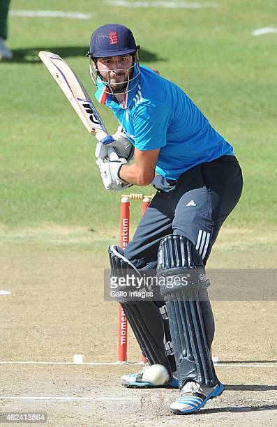 James Vince of England Lions during the 2nd ODI match between South Africa A and England Lions at De Beers Diamond Oval on January 28 2015 in...