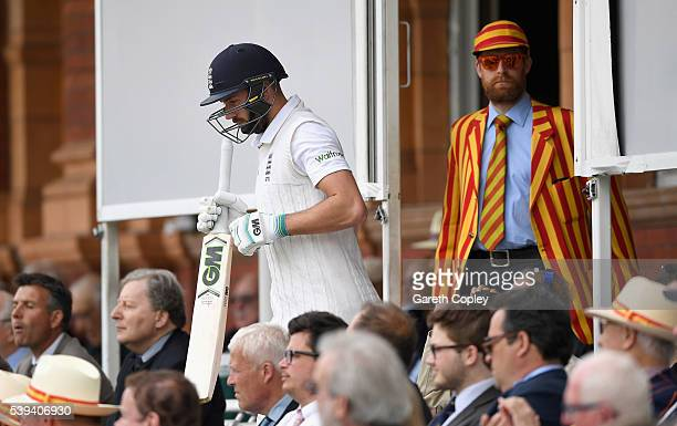 James Vince of England walks out on to the field through the MCC members during day three of the 3rd Investec Test match between England and Sri...