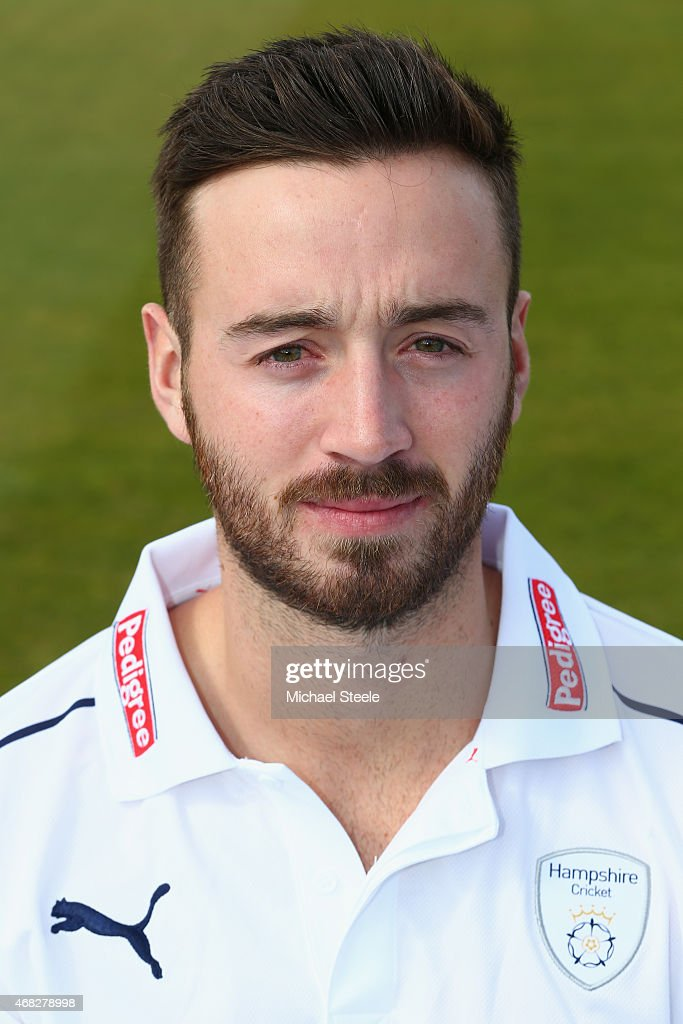 James Vince of Hampshire during the Hampshire CCC Photocall at the Ageas Bowl on April 1 2015 in Southampton England