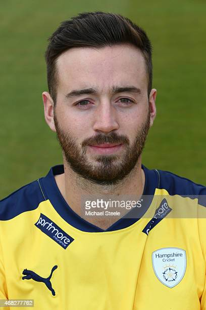 James Vince of Hampshire during the Hmpshire CCC Photocall at the Ageas Bowl on April 1 2015 in Southampton England