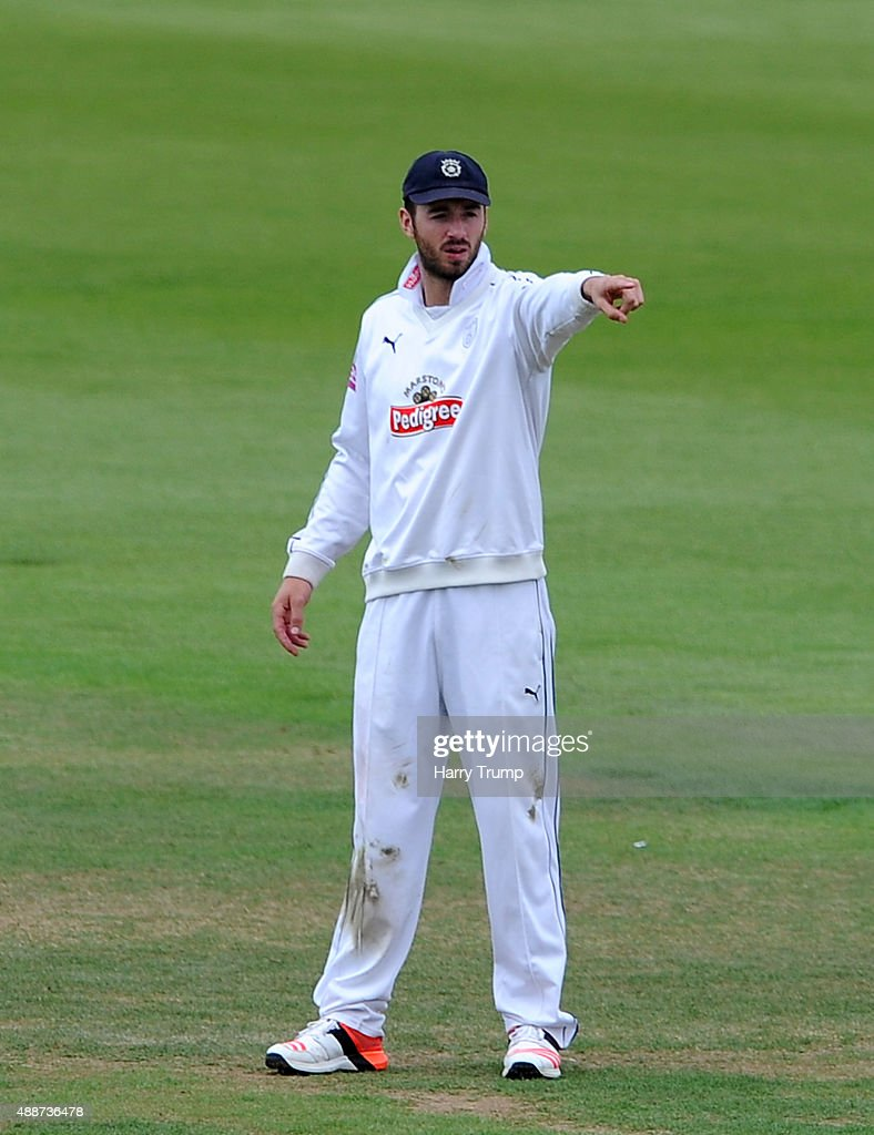 James Vince of Hampshire during the LV County Championship match between Hampshire and Yorkshire at Ageas Bowl on September 17 2015 in Southampton...