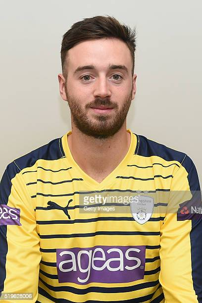 James Vince poses for photos during the Hampshire CCC Photocall at Ageas Bowl on April 7 2016 in Southampton England