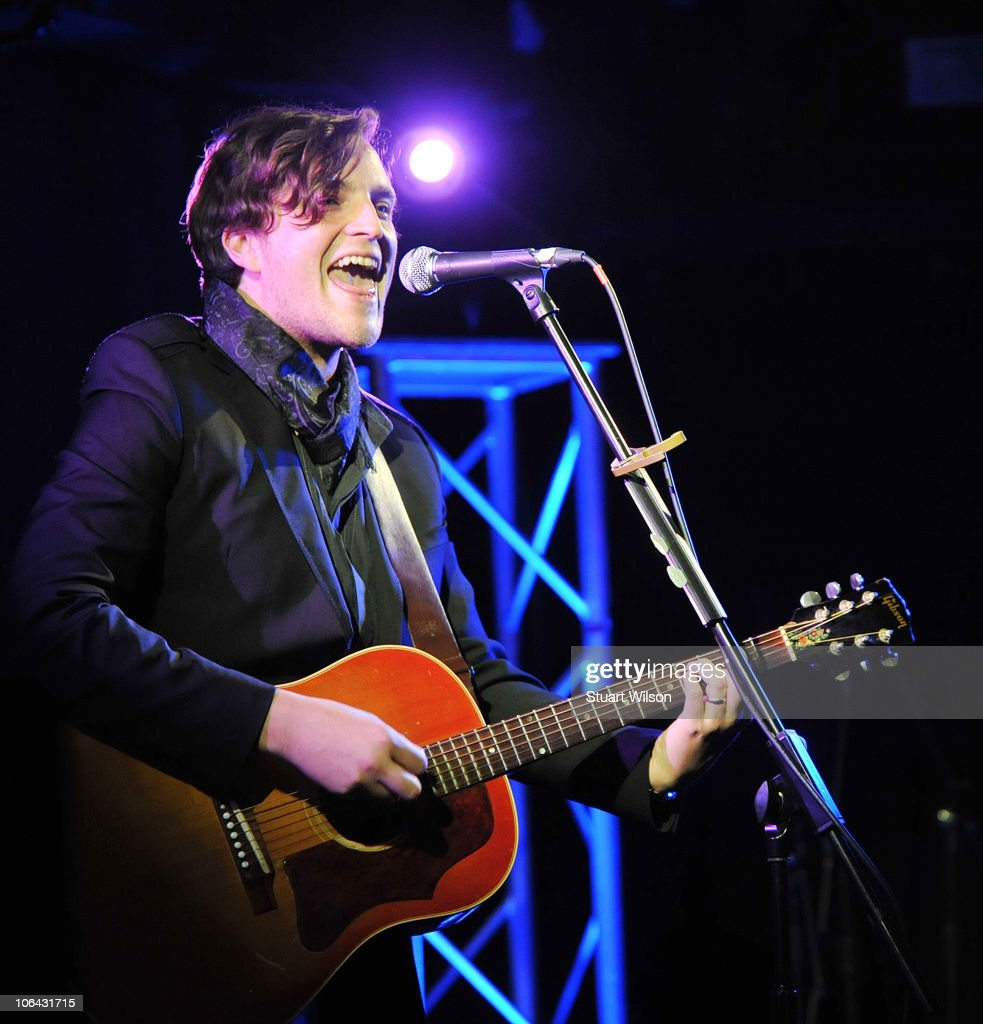 James Walsh performs during the 'Pinktober' charity auction for breast cancer at the Hard Rock Cafe on November 1 2010 in London England