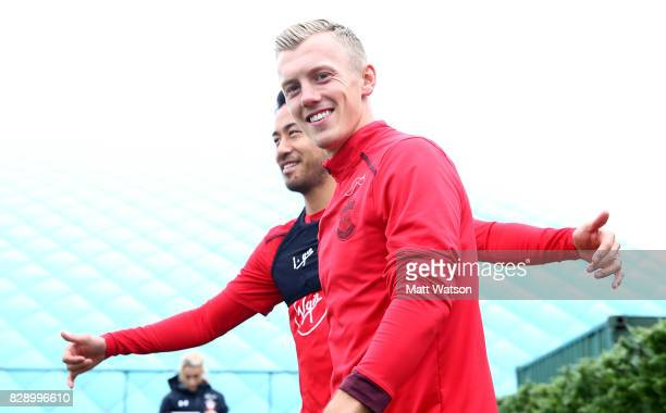 James WardProwse during a Southampton FC training session at the Staplewood Campus on August 9 2017 in Southampton England