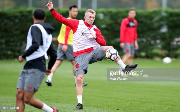 James WardProwse during a Southampton FC training session at the Staplewood Campus on October 13 2017 in Southampton England