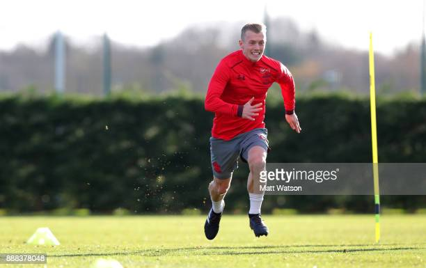 James WardProwse during a Southampton FC training session at the Staplewood Campus on December 8 2017 in Southampton England