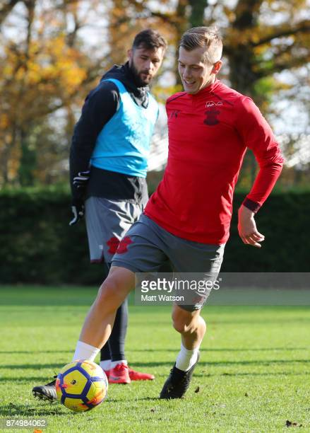 James WardProwse during a Southmpton FC training session at the Staplewood Campus on November 16 2017 in Southampton England