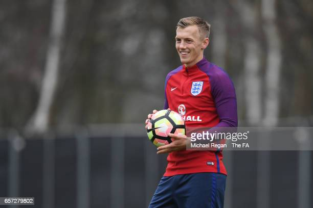 James WardProwse looks on during the England Training Session at The Grove Hotel on March 24 2017 in Hertford England