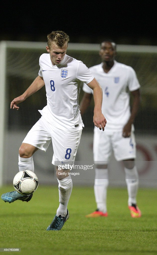 James Ward-Prowse of England in action during the Lithuania v England UEFA U21 Championship Qualifier 2015 match at Dariaus ir Gireno Stadionas on September 5, 2014 in Kaunas, Lithuania.