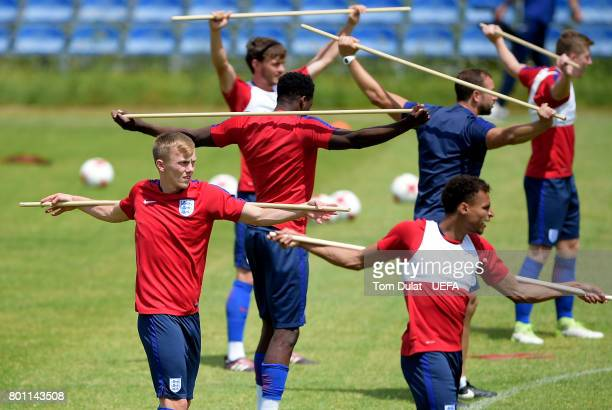 James WardProwse of England U21 warms up during a training session on the eve of their UEFA European Under21 Championship Semifinal against Germany...