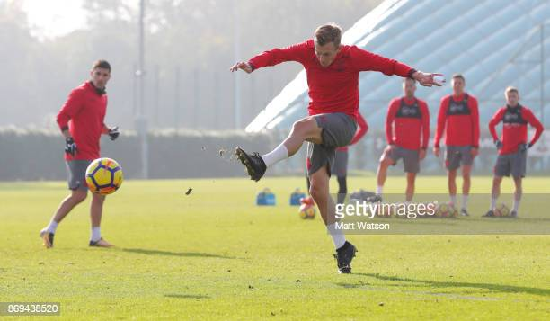 James WardProwse of Southampton during a Southampton FC training session at the Staplewood Campus on November 2 2017 in Southampton England
