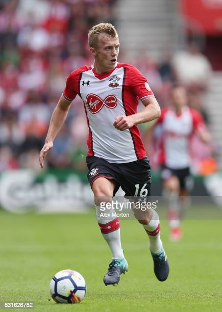 James WardProwse of Southampton during the Premier League match between Southampton and Swansea City at St Mary's Stadium on August 12 2017 in...