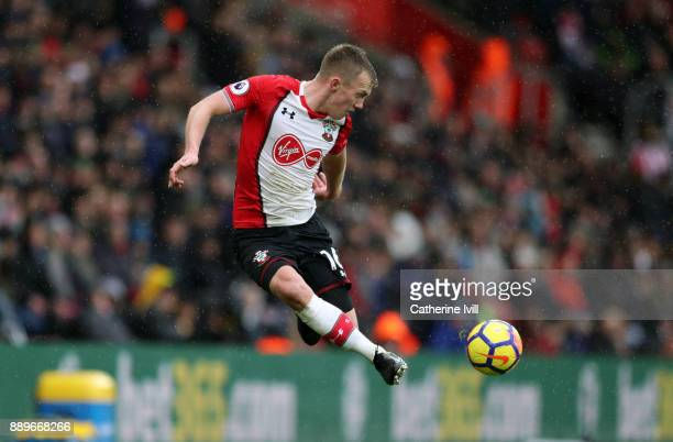 James WardProwse of Southampton during the Premier League match between Southampton and Arsenal at St Mary's Stadium on December 10 2017 in...