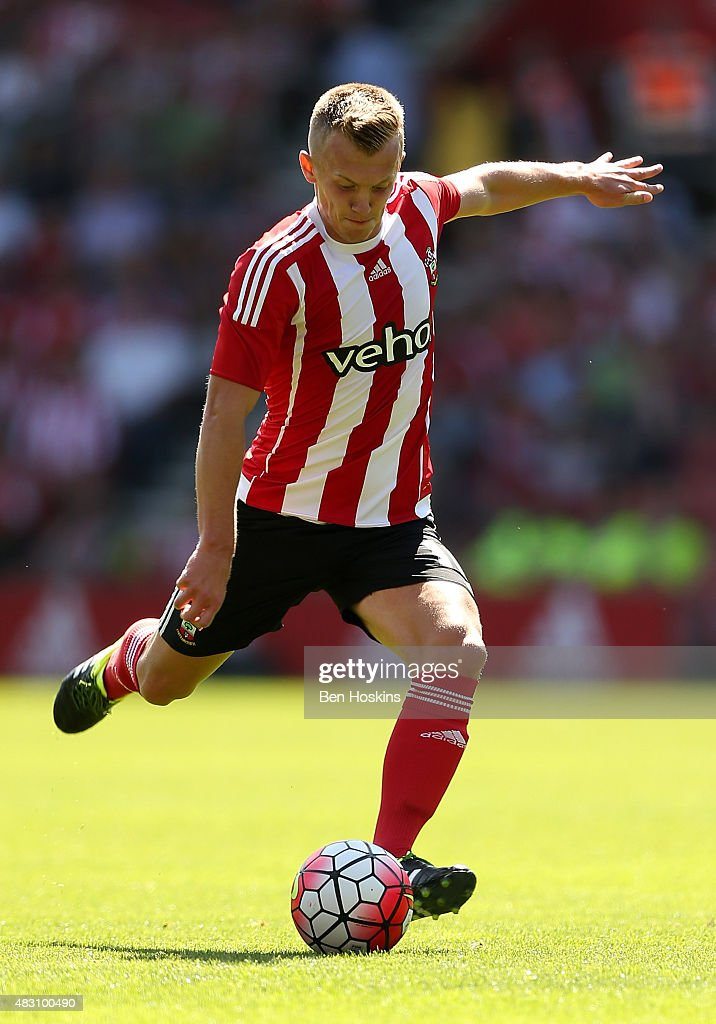 James Ward-Prowse of Southampton in action during the pre season friendly match between Southampton and Espanyol at St Mary's Stadium on August 2, 2015 in Southampton, England.