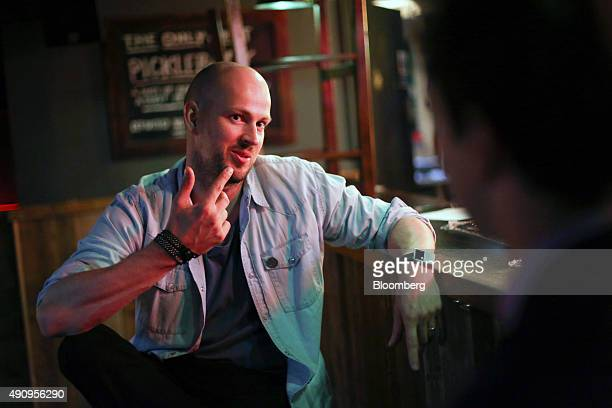 James Watt chief executive officer of Brewdog Plc gestures as he speaks during an interview at the company's bar in Shoreditch London UK on Tuesday...