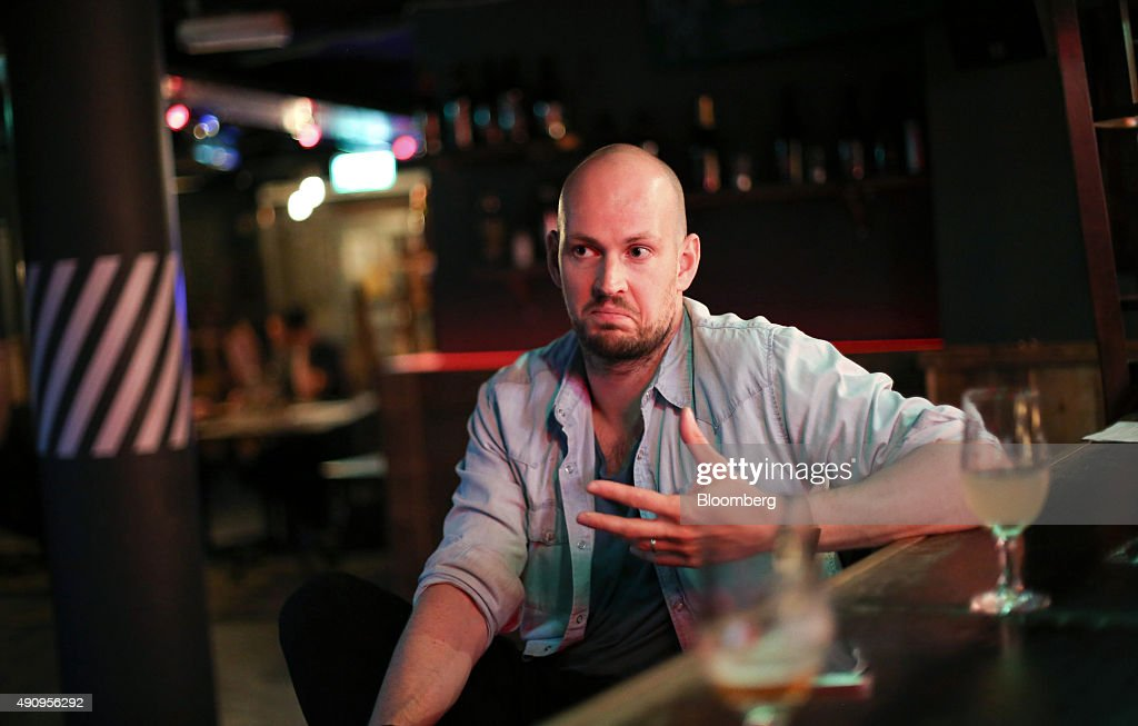 <a gi-track='captionPersonalityLinkClicked' href=/galleries/search?phrase=James+Watt&family=editorial&specificpeople=78982 ng-click='$event.stopPropagation()'>James Watt</a>, chief executive officer of Brewdog Plc, speaks during an interview at the company's bar in Shoreditch, London, U.K., on Tuesday, Sept. 1, 2015. The craft beer brewers have raised more than £10 million in a crowdfunding project in which more than 35,000 people have invested, according to a statement on the company's website. Photographer: Chris Ratcliffe/Bloomberg via Getty Images