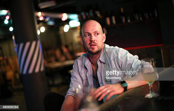 James Watt chief executive officer of Brewdog Plc speaks during an interview at the company's bar in Shoreditch London UK on Tuesday Sept 1 2015 The...