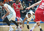 James White #4 of Cedevita Zagreb competes with Reggie Redding #5 of Darussafaka Dogus Istanbul during the 20152016 Turkish Airlines Euroleague...