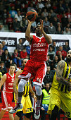 James White #4 of Cedevita Zagreb in action during the 20152016 Turkish Airlines Euroleague Basketball Top 16 Round 12 game between Cedevita Zagreb v...