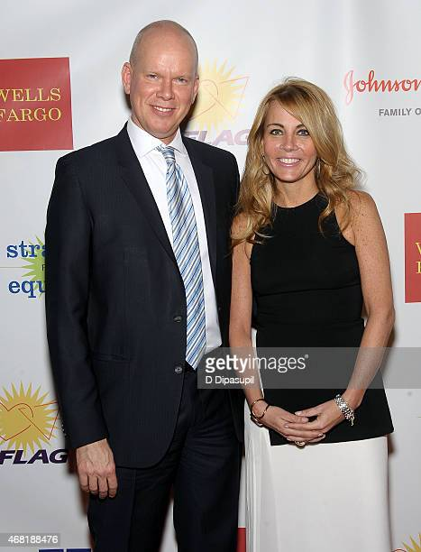 James White and Patsy Doerr attend the 7th Annual PFLAG National Straight For Equality Awards Gala at The New York Marriott Marquis on March 30 2015...