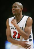 James White of the Cincinnati Bearcats grimaces during their game against the Syracuse Orangemen during the first round of the Big East Men's...