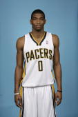 James White of the Indiana Pacers poses for a portrait during a 2006 Media Day on October 2 2006 at Conseco Fieldhouse in Indianapolis Indiana NOTE...