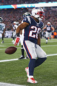 James White of the New England Patriots scores a touchdown during the second quarter against the Philadelphia Eagles at Gillette Stadium on December...