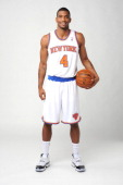 James White of the New York Knicks poses for a portrait during Media Day on October 1 2012 at the Knicks Training Facility in Greeburgh New York NOTE...