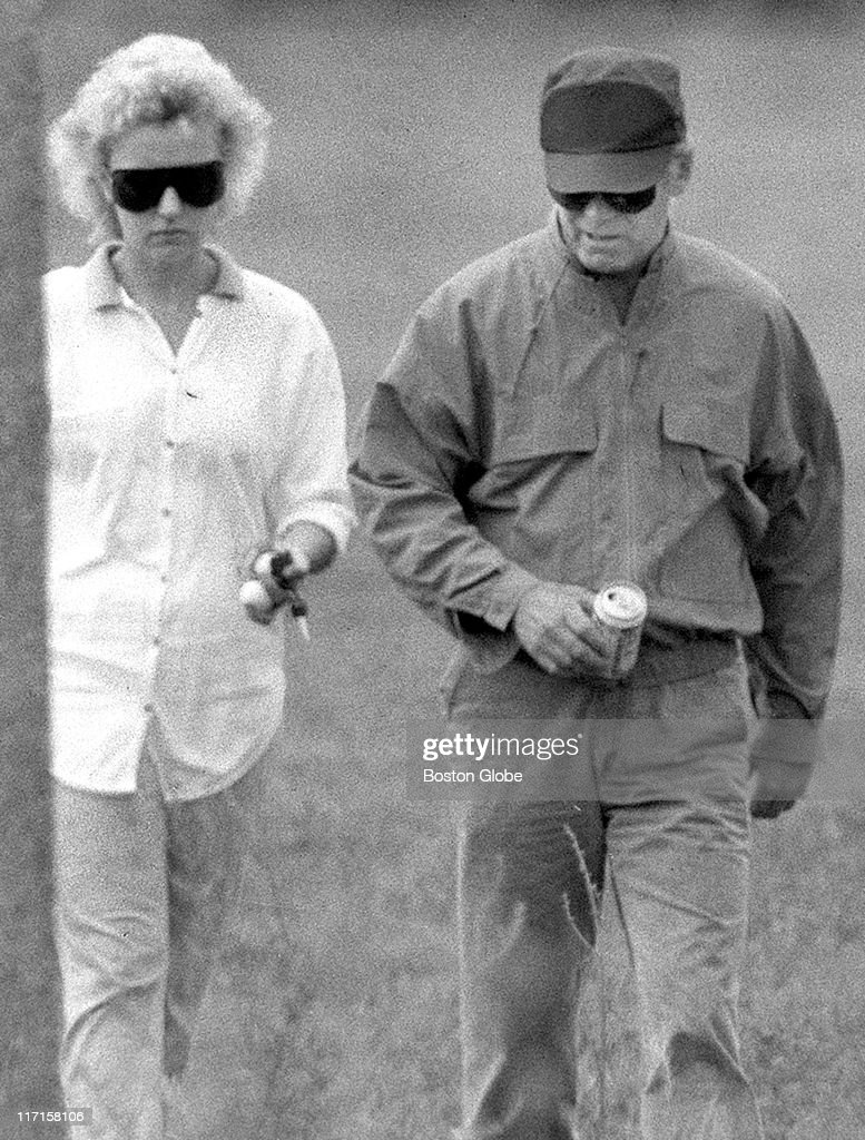 Whitey Bulger and Catherine Greig walk together