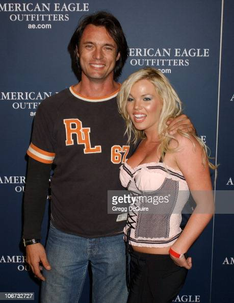 James Wilder and Colleen Shannon during American Eagle Outfitters Rocks Los Angeles with a Back To School Tailgate Party Arrivals at Hollywood Lot in...