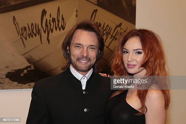 James Wilder and Kristina D attend the cocktail party before the 2015 Garden State Film Festival Awards Dinner at Claridge Hotel on March 22 2015 in...