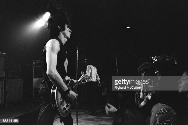 James Williamson of The Stooges performs live at Bimbo's Club in 1974 in San Francisco California