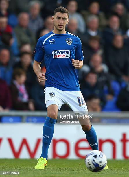 James Wilson of Oldham Athletic in action during the Sky Bet League One match between Oldham Athletic and Walsall at Boundary Park on October 11 2014...