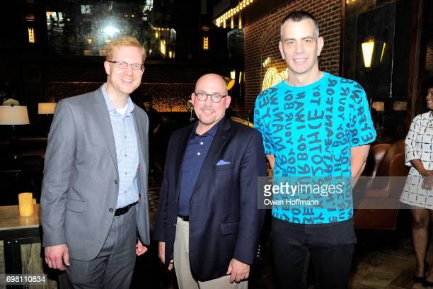 James Winans David Jones and Scott Ewalt attend Second Mudd Club Rummage Sale at Roxy Hotel at The Roxy Hotel on June 12 2017 in New York City