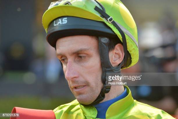 James Winks after winning the Excellence in Baking 2018 Handicap at Moonee Valley Racecourse on November 17 2017 in Moonee Ponds Australia
