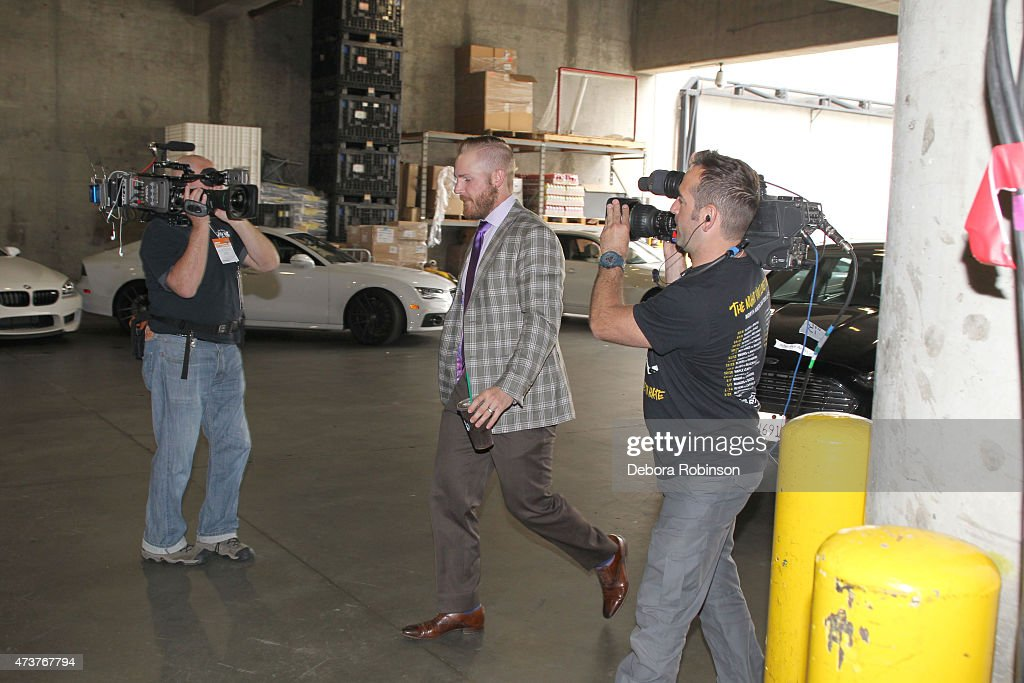 James Wisniewski of the Anaheim Ducks arrives at the arena before taking on the Chicago Blackhawks in Game One of the Western Conference Finals...