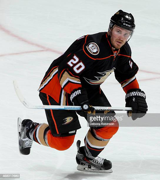 James Wisniewski of the Anaheim Ducks skates against the Edmonton Oilers on April 1 2015 at Honda Center in Anaheim California
