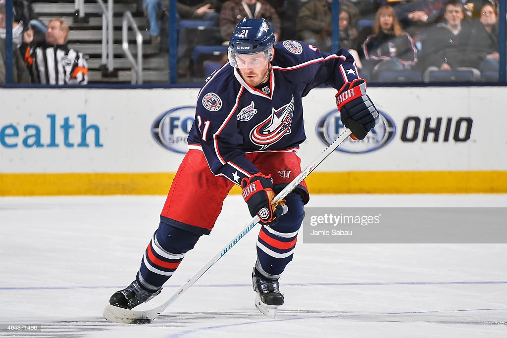 James Wisniewski of the Columbus Blue Jackets skates against the Buffalo Sabres on February 24 2015 at Nationwide Arena in Columbus Ohio