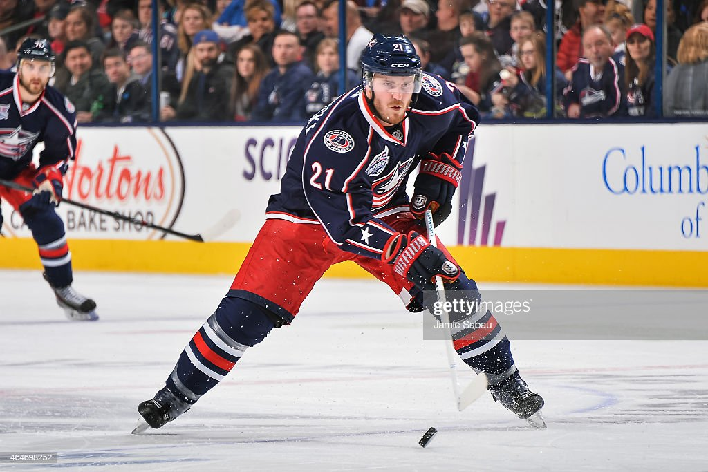 James Wisniewski of the Columbus Blue Jackets skates against the Montreal Canadiens on February 26 2015 at Nationwide Arena in Columbus Ohio
