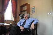 James Wolfensohn former president of the World Bank is seen on June 22 2005 in Jerusalem Israel