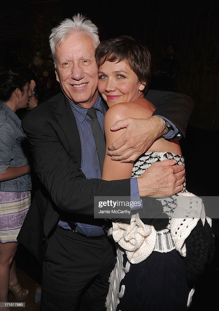 James Woods and <a gi-track='captionPersonalityLinkClicked' href=/galleries/search?phrase=Maggie+Gyllenhaal&family=editorial&specificpeople=202607 ng-click='$event.stopPropagation()'>Maggie Gyllenhaal</a> attend 'White House Down' New York Premiere at on June 25, 2013 in New York City.