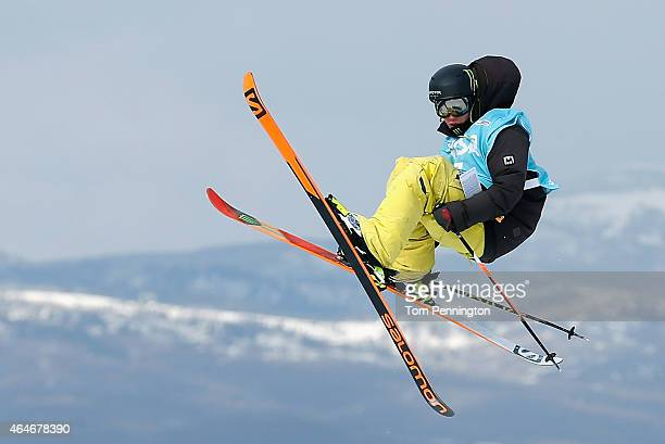 James Woods of Great Britain competes during the FIS Freeskiing World Cup 2015 Men's Freeskiing Slopestyle Final during the US Grand Prix at Park...