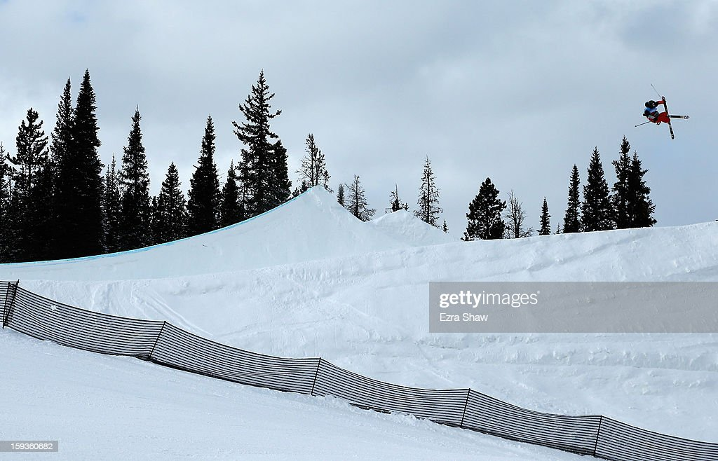 James Woods of Great Britain competes in the FIS Freestyle Ski World Cup slope style final at the U.S. Grand Prix on January 12, 2013 in Copper Mountain, Colorado. Woods won the event.