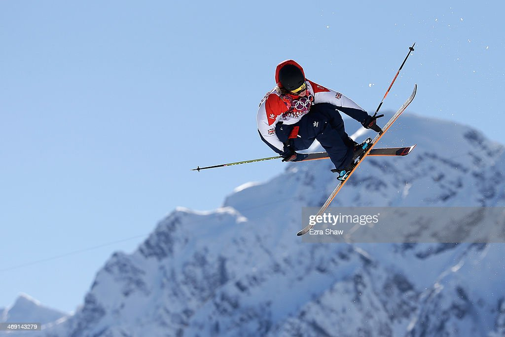James Woods of Great Britain competes in the Freestyle Skiing Men's Ski Slopestyle Qualification during day six of the Sochi 2014 Winter Olympics at...