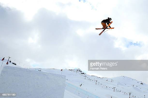 James Woods of Great Britain competes in the Snowboard AFP Freeski Big Air Finals during the Winter Games NZ at Cardrona Alpine Resort on August 30...