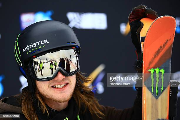James Woods of Great Britain smiles following the FIS Freestyle Ski World Cup Slopestyle Finals during the Winter Games NZ at Cardrona Alpine Resort...